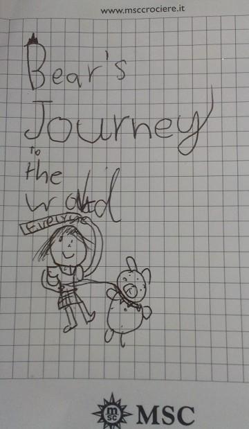 Eve 第一次旅行時畫的圖,Isa一直說Bear是她的
