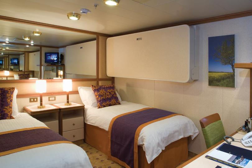 可以依旅客要求,將床擺成兩張單人床或一張大床