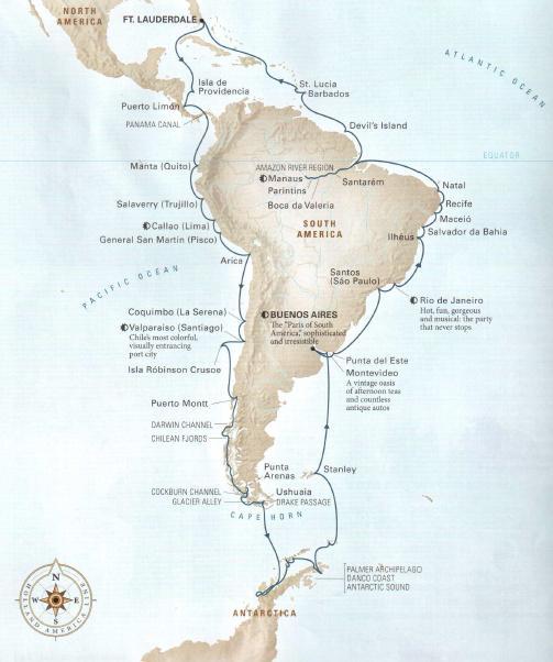 環遊南美洲及南極的旅程