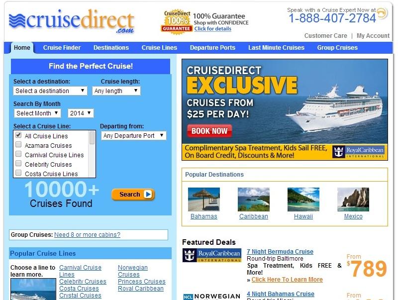 線上訂購自助遊輪行程