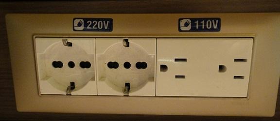 床仓内一般都有110V,220V 的插座