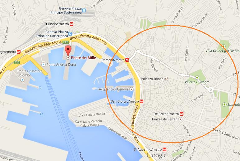 红圈的部分就是市中心的区域