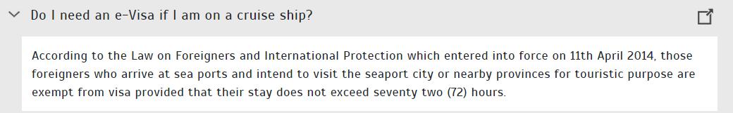 郵輪旅客可以免簽進入土耳其 72小時