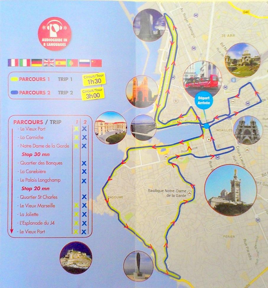 觀光 bus 的路線圖