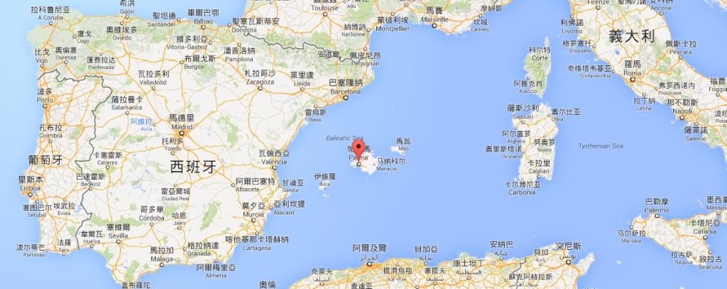 Palma 的地理位置
