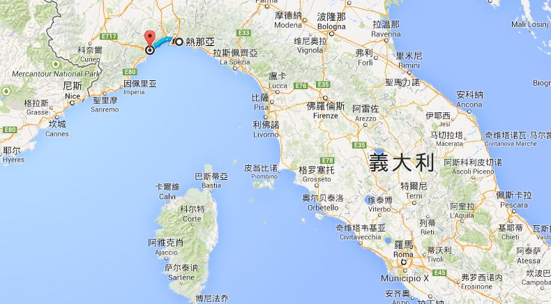 Savona 地理位置