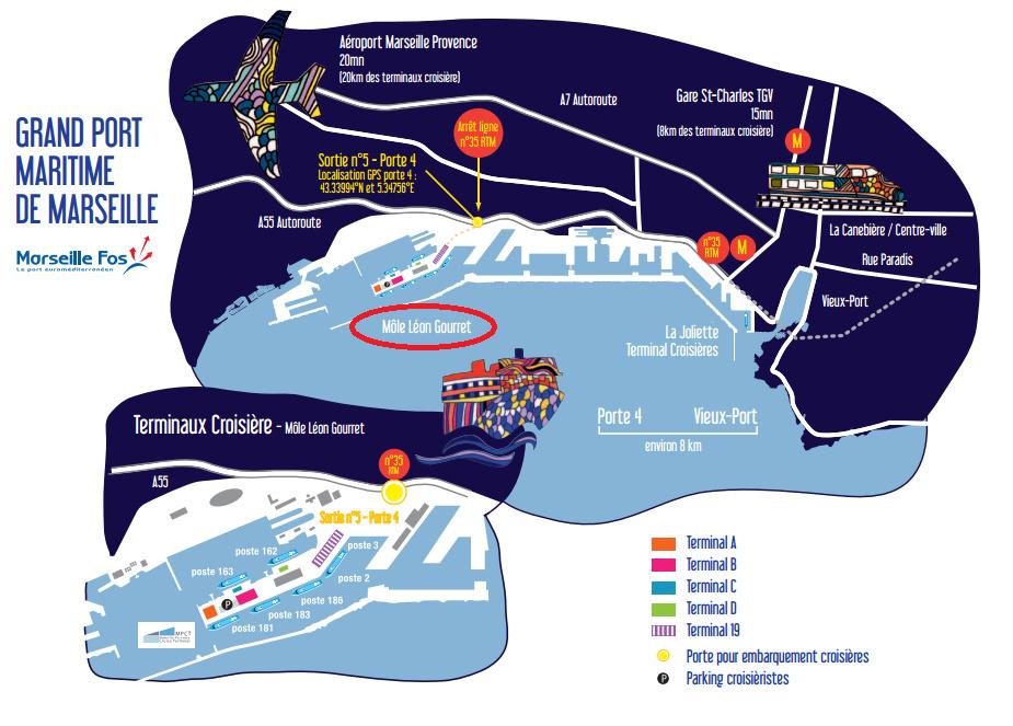 從地鐵或機場到 cruise 碼頭