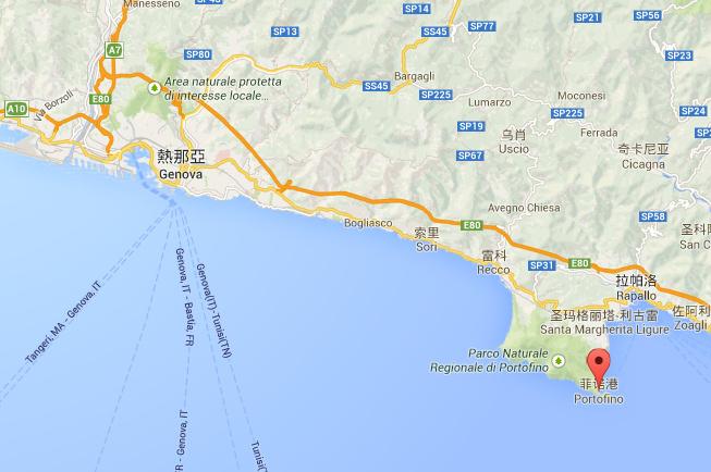 Portofino 的地理位置