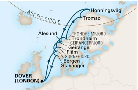 挪威峽灣路線