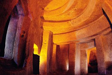 像迷宫一般的地下宫殿(from Malta 观光局)