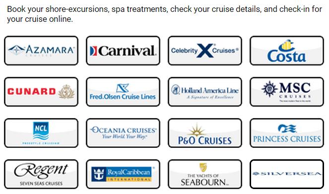 參加上列的遊輪公司行程,都是需要預先網上 check in 的
