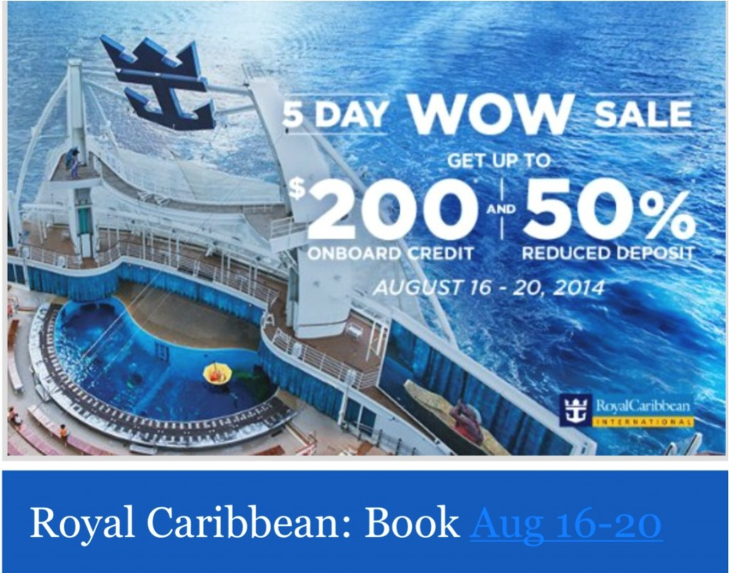 Royal Caribbean 郵輪難得有降價促銷