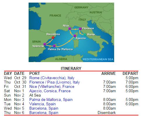 停靠的港口很標準的西地中海