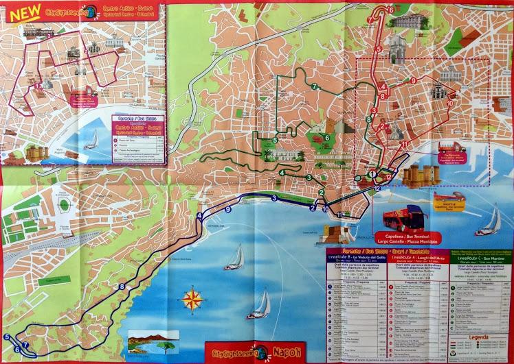 觀光巴士路線圖 (有三條路線都可以坐)