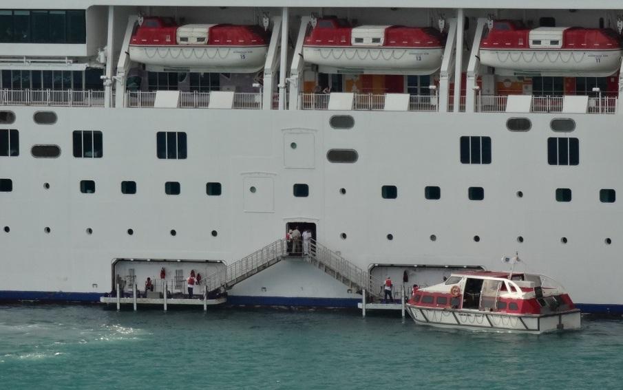 近距離照是這樣 (這是另一艘船了,不過不同郵輪基本上大同小異)