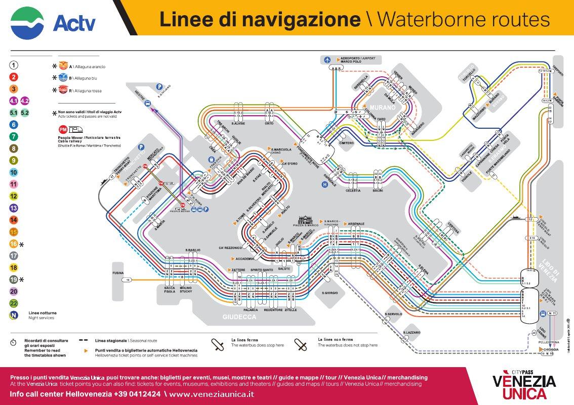 waterbus路線圖