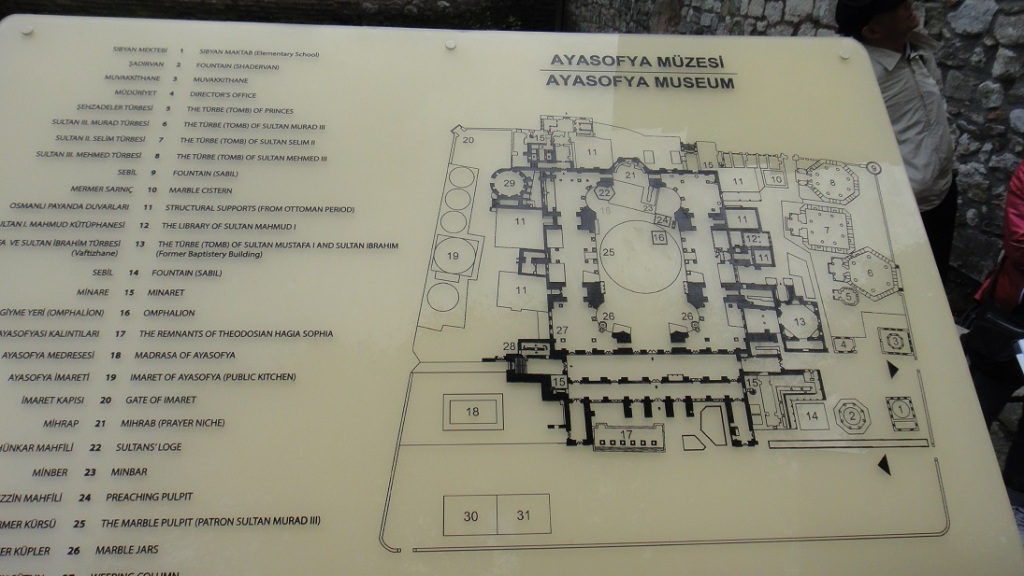 Sofya 教堂平面圖