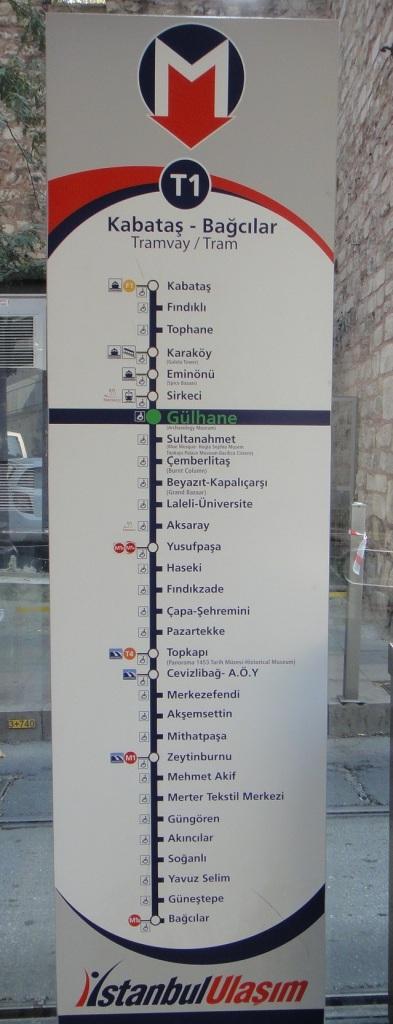 電車 T1 停靠路線