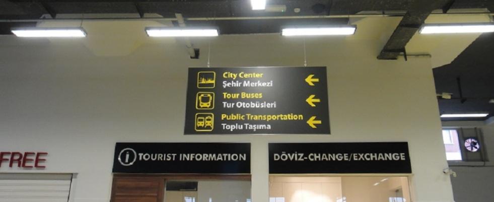 碼頭的 terminal 裡面有蠻詳細的指標,有換幣的櫃台還有簡單的 tourist information