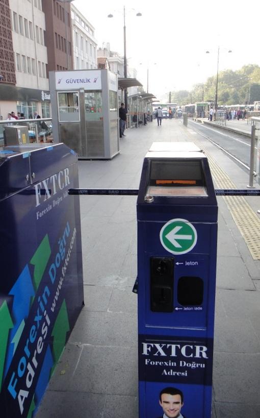 電車Tram票是感應式的