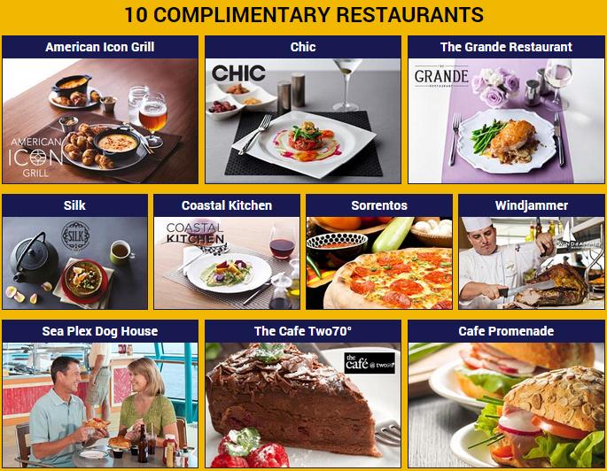 Royal Caribbean 的新船提供震撼業界的 10 間免費餐廳