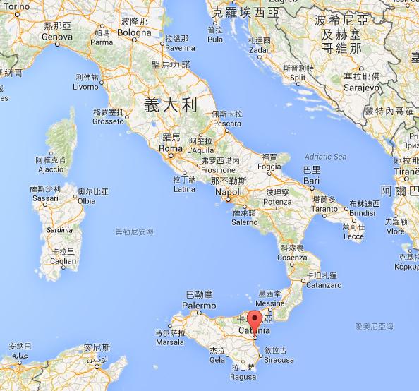 西西里島像是在義大利鞋尖前的一塊石頭