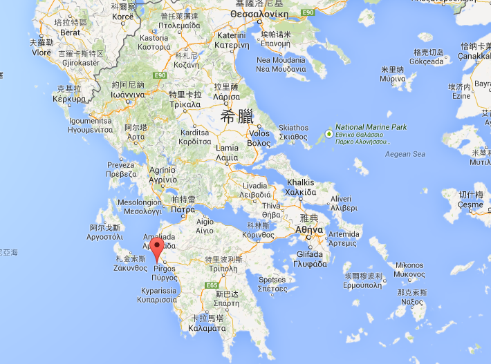 再一張靠近一點看的,在希臘的這裡~