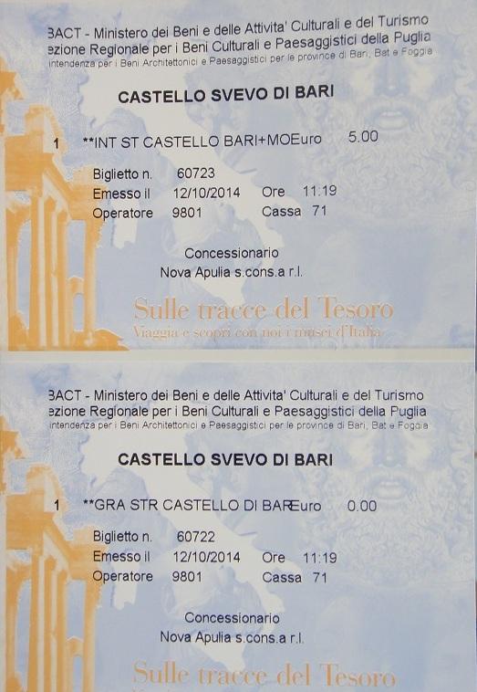 進入 Catello Svevo 參觀是要門票的,大人 5 歐,小朋友免費