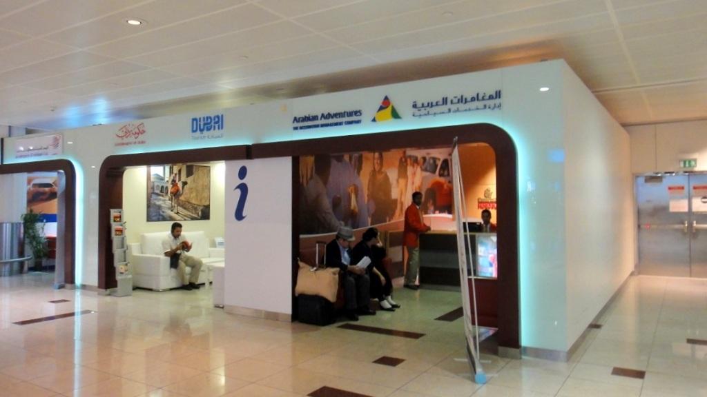Arabian adventure 的櫃台,可以幫旅客聯絡飯店的車輛