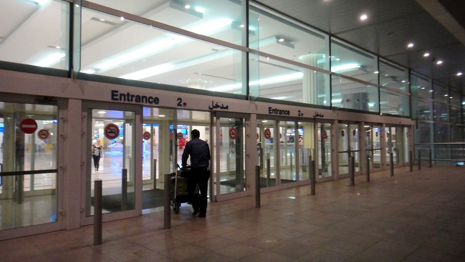 到出境大廳 terminal 準備檢查護照出境了
