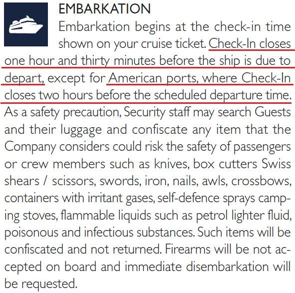 報到櫃台出航前 1.5~2 小時就會關閉