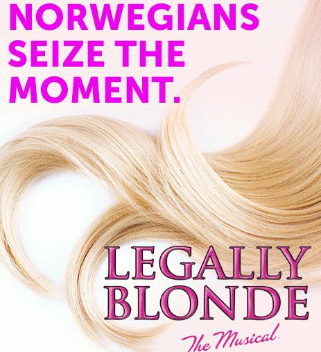 郵輪上提供的表演活動越來越精緻,在Norwegian Getaway 上可以看到 Legally Blonde 的百老匯表演