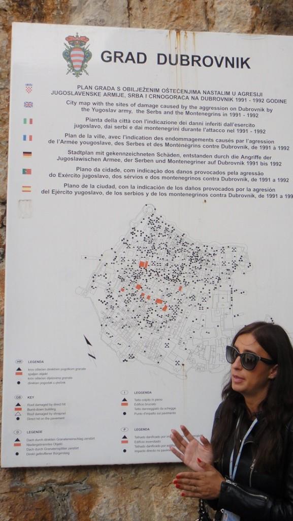 杜伯尼克 1991~1992 年被戰火破壞的地方及受損情形