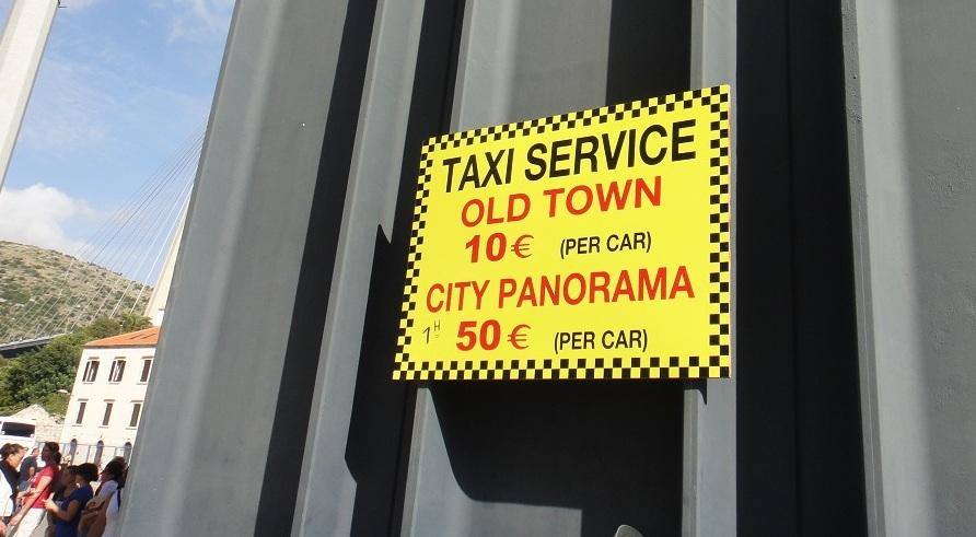 計程車一車單程 10 歐,人多同行很划算 (2016年已漲到13歐)