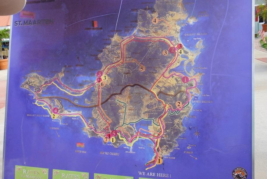 各種 local tour 的路線圖