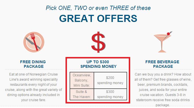 贈送 onboard credit 是郵輪公司常見的促銷方式