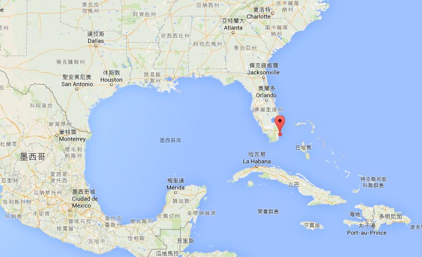 邁阿密港的位置