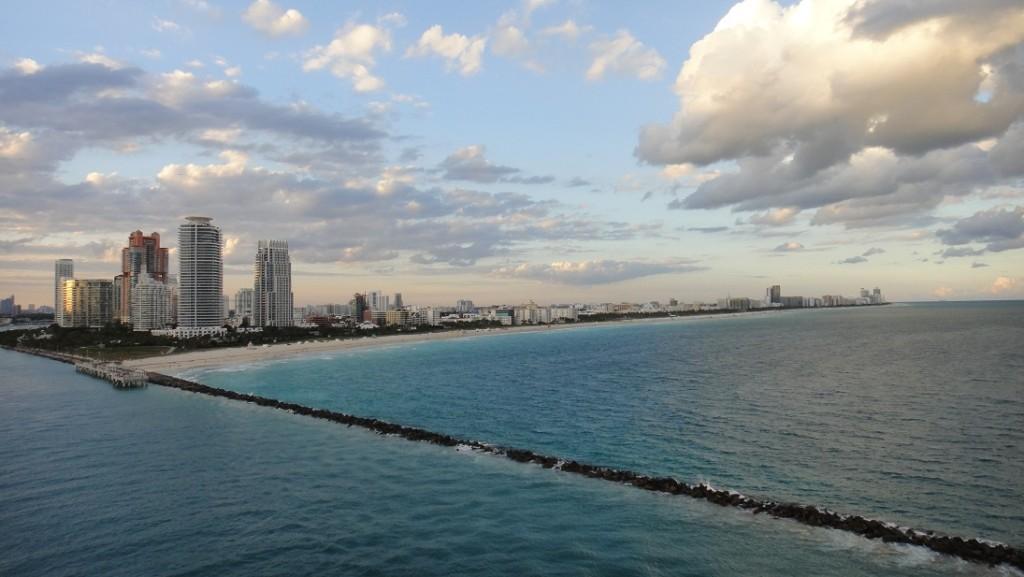 從船上看到的邁阿密景色