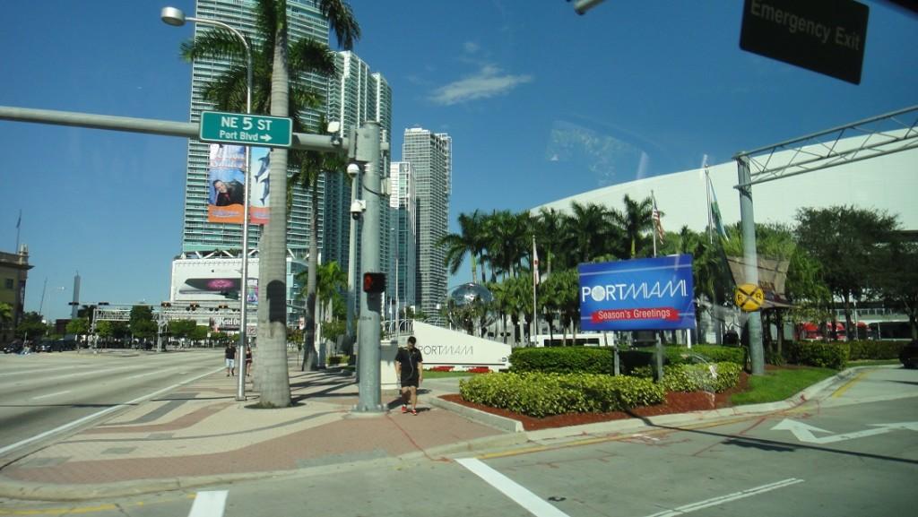 碼頭的歡迎標示
