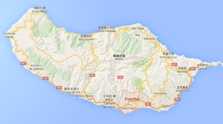 居住在馬德拉島上的人口約 26萬人,其中首府 Funchal 的居民人口約佔一半
