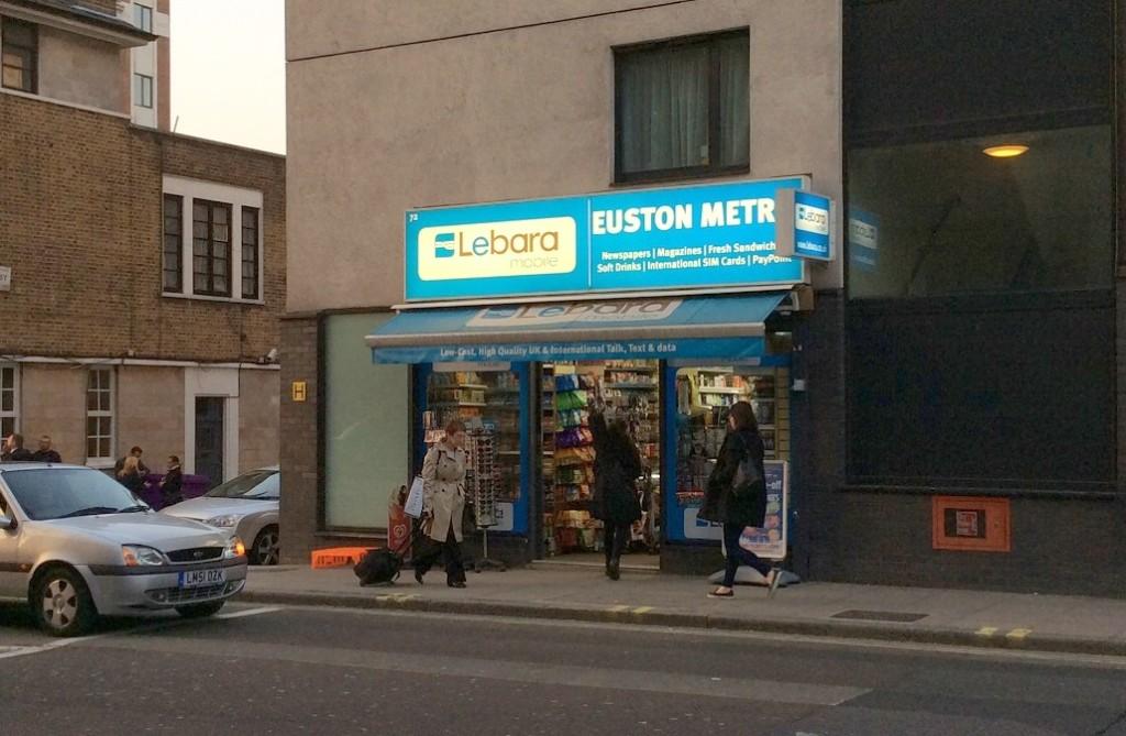 在英國很容易找到賣 Lebara SIM 卡的小賣店