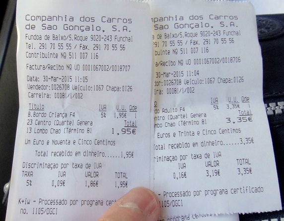 票價單程大人 3.35 歐,小朋友 1.95 歐 (真是相當奇怪的價格,難怪司機都要配備一台計算機 ......)