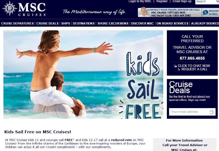 有些遊輪公司是一整年小朋友同行免船費的