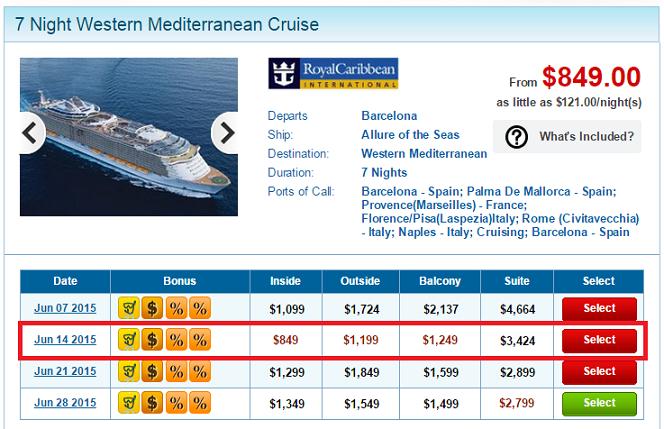 超便宜的內艙,幾乎跟一般平價的船隊價格一樣了,超划算吧~