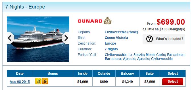 Queen Victoria 的西地中海 7 天行程