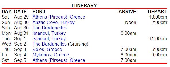 很不錯的希臘和土耳其行程