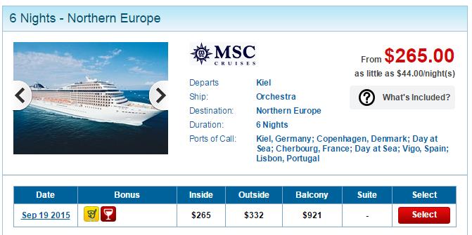 MSC 北歐 7天6夜只要美金265元