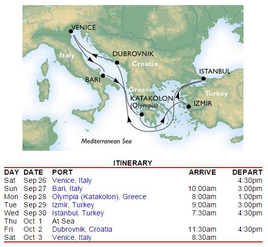 除了 Izmir 到 Ephesis 需要參加岸上團之外,這個路線要自助都有遊記可以參考囉~