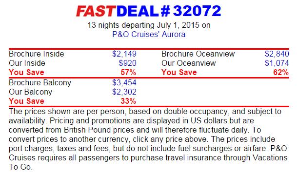 13 天挪威峽灣行程只要美金 920元