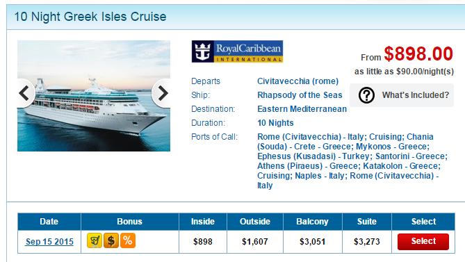 皇家加勒比海 10 天地中海行程台幣三萬塊有找